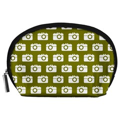 Modern Chic Vector Camera Illustration Pattern Accessory Pouches (large)  by creativemom