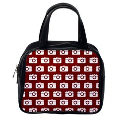 Modern Chic Vector Camera Illustration Pattern Classic Handbags (one Side) by creativemom
