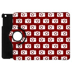 Modern Chic Vector Camera Illustration Pattern Apple Ipad Mini Flip 360 Case