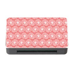 Coral Pink Gerbera Daisy Vector Tile Pattern Memory Card Reader With Cf