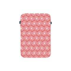 Coral Pink Gerbera Daisy Vector Tile Pattern Apple Ipad Mini Protective Soft Cases by creativemom