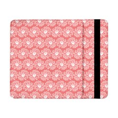Coral Pink Gerbera Daisy Vector Tile Pattern Samsung Galaxy Tab Pro 8 4  Flip Case