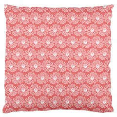 Coral Pink Gerbera Daisy Vector Tile Pattern Large Flano Cushion Cases (two Sides)  by creativemom