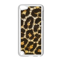 Brown Cheetah Abstract Pattern  Apple Ipod Touch 5 Case (white) by OCDesignss