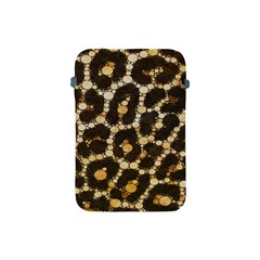 Brown Cheetah Abstract Pattern  Apple Ipad Mini Protective Soft Cases by OCDesignss