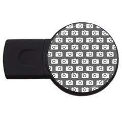 Modern Chic Vector Camera Illustration Pattern Usb Flash Drive Round (2 Gb)  by creativemom