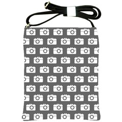 Modern Chic Vector Camera Illustration Pattern Shoulder Sling Bags by creativemom