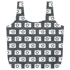 Modern Chic Vector Camera Illustration Pattern Full Print Recycle Bags (l)  by creativemom