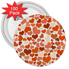 Heart 2014 0902 3  Buttons (100 Pack)  by JAMFoto