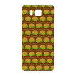 Burger Snadwich Food Tile Pattern Samsung Galaxy Alpha Hardshell Back Case Front