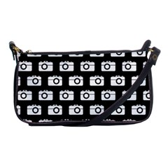 Modern Chic Vector Camera Illustration Pattern Shoulder Clutch Bags by creativemom