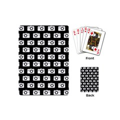 Modern Chic Vector Camera Illustration Pattern Playing Cards (mini)
