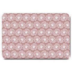 Gerbera Daisy Vector Tile Pattern Large Doormat  by creativemom