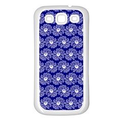 Gerbera Daisy Vector Tile Pattern Samsung Galaxy S3 Back Case (white) by creativemom