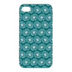 Gerbera Daisy Vector Tile Pattern Apple Iphone 4/4s Premium Hardshell Case by creativemom
