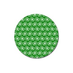 Gerbera Daisy Vector Tile Pattern Magnet 3  (round)