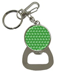 Gerbera Daisy Vector Tile Pattern Bottle Opener Key Chains by creativemom