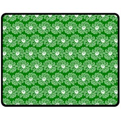 Gerbera Daisy Vector Tile Pattern Double Sided Fleece Blanket (medium)  by creativemom