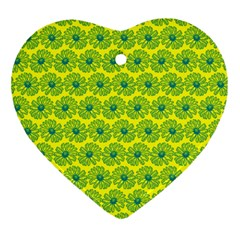 Gerbera Daisy Vector Tile Pattern Ornament (heart)  by creativemom