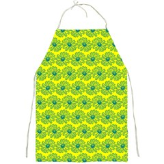Gerbera Daisy Vector Tile Pattern Full Print Aprons by creativemom