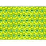 Gerbera Daisy Vector Tile Pattern Ribbon 3D Greeting Card (7x5)  Front