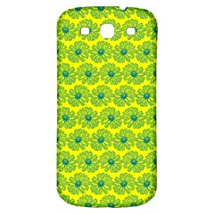 Gerbera Daisy Vector Tile Pattern Samsung Galaxy S3 S Iii Classic Hardshell Back Case