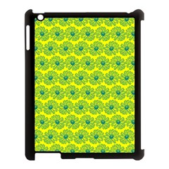 Gerbera Daisy Vector Tile Pattern Apple Ipad 3/4 Case (black) by creativemom