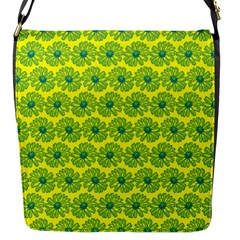 Gerbera Daisy Vector Tile Pattern Flap Messenger Bag (s) by creativemom