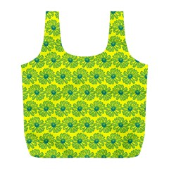 Gerbera Daisy Vector Tile Pattern Full Print Recycle Bags (l)  by creativemom