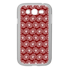 Gerbera Daisy Vector Tile Pattern Samsung Galaxy Grand Duos I9082 Case (white)