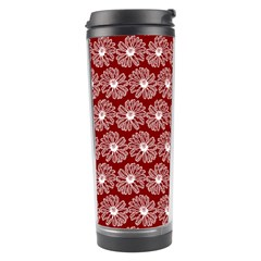 Gerbera Daisy Vector Tile Pattern Travel Tumblers by creativemom