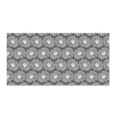 Gerbera Daisy Vector Tile Pattern Satin Wrap by creativemom