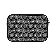 Black And White Gerbera Daisy Vector Tile Pattern Apple Ipad Mini Zipper Cases by creativemom