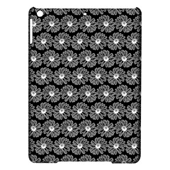 Black And White Gerbera Daisy Vector Tile Pattern Ipad Air Hardshell Cases