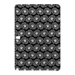 Black And White Gerbera Daisy Vector Tile Pattern Samsung Galaxy Tab Pro 12 2 Hardshell Case by creativemom