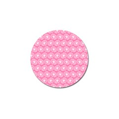 Pink Gerbera Daisy Vector Tile Pattern Golf Ball Marker by creativemom