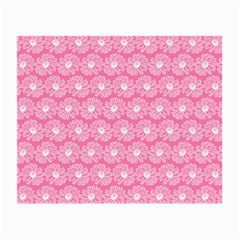Pink Gerbera Daisy Vector Tile Pattern Small Glasses Cloth (2-side) by creativemom
