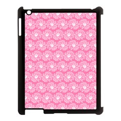 Pink Gerbera Daisy Vector Tile Pattern Apple Ipad 3/4 Case (black) by creativemom