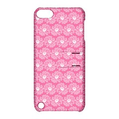 Pink Gerbera Daisy Vector Tile Pattern Apple Ipod Touch 5 Hardshell Case With Stand by creativemom
