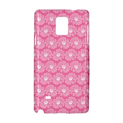 Pink Gerbera Daisy Vector Tile Pattern Samsung Galaxy Note 4 Hardshell Case by creativemom
