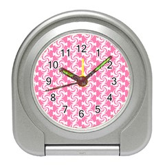 Cute Candy Illustration Pattern For Kids And Kids At Heart Travel Alarm Clocks
