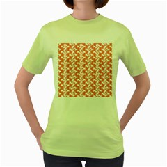 Candy Illustration Pattern  Women s Green T-shirt by creativemom