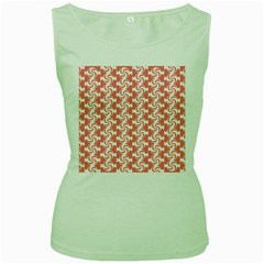 Candy Illustration Pattern  Women s Green Tank Tops by creativemom