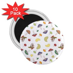 Mushrooms Pattern 2 25  Magnets (10 Pack)  by Famous