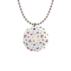 Mushrooms Pattern Button Necklaces by Famous