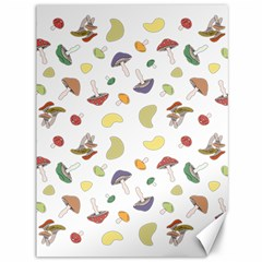 Mushrooms Pattern Canvas 36  X 48   by Famous