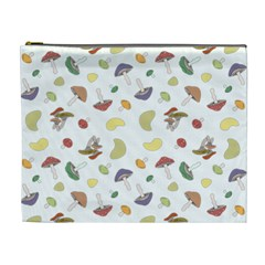 Mushrooms Pattern Cosmetic Bag (xl) by Famous