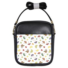 Mushrooms Pattern Girls Sling Bags by Famous