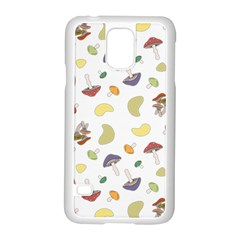 Mushrooms Pattern Samsung Galaxy S5 Case (white) by Famous