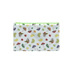 Mushrooms Pattern Cosmetic Bag (xs)